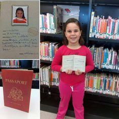 """#petitsllibres """"Avui la Naiara, de 7 anys, ha vingut amb el seu #passaportdelectura ple, amb moltes ganes de llegir!"""" #lectura #biblio #leer #libro #infantil"""