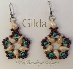 Gilda Beaded Earrings Pattern