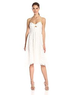 Parker Women's Miranda Dress, White, Medium Parker