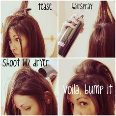 "KRISTANLYNN.COM: bump it with no ""bump it"" | hair volume tutorial"