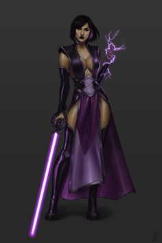A Star Wars Sith character commission for He was a fun character to paint. I love me some lightsabers! Star Wars Jedi, Star Wars Mädchen, Star Wars Girls, Star Wars Fan Art, Star Wars Characters Pictures, Star Wars Images, Female Jedi, Arte Cyberpunk, Cyberpunk Girl