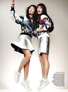 Lina Zhang and Lily Zhi by Jason Kibbler for Teen Vogue December January 2013-2014 7