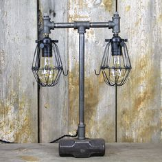 """Thanks for the kind words! ★★★★★ """"I am absolutely thrilled with this lamp. It is well made, functional and beautiful. Delivery was fast and all my questions have been answered in a timely manner. Thank you"""" C M. http://etsy.me/2jlwzw9 #etsy #housewares #lighting #indus"""