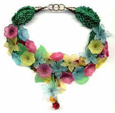 Flower Beaded Choker