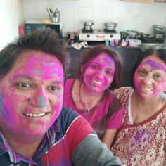 "Krunal Ramniklal Thacker on Instagram: ""Happy Holi"" Dagdusheth Ganpati, Happy Holi, Carnival, Face, Painting, Instagram, Carnavals, Painting Art, The Face"