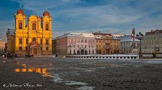 Timisoara, Romania - Union Square - Catholic Church Timisoara Romania, Union Square, Cathedrals, San Francisco Ferry, Catholic, Louvre, Building, Holiday, Travel