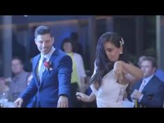 Wedding Dance And Flash Mob - Janette And Paul (Elvis and Michael Jackson) - YouTube