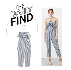 """The Daily Find: Mango Ruffled Jumpsuit"" by polyvore-editorial ❤ liked on Polyvore featuring MANGO and DailyFind"