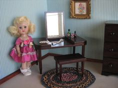 Vintage Doll Furniture  Hall's Lifetime Toys  Wooden by TheToyBox