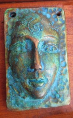 Weathered face pendant by chrispellowdesigns on Etsy, £3.50
