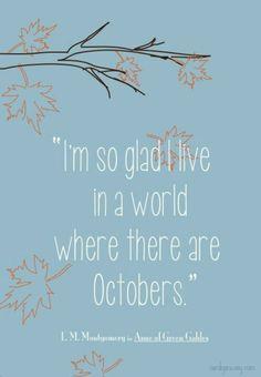 I LOVE OCTOBER!!