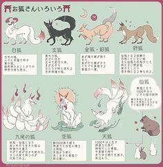 7 Types Of Kitsune Spirits In Japan Fantasy Creatures, Mythical Creatures, Design Reference, Drawing Reference, Animal Drawings, Art Drawings, Japanese Mythology, Japon Illustration, Drawing Skills