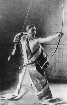"Awa Kenzo (1880–1939), Zen and kyudo (archery) master who gained worldwide renown after the publication of Eugen Herrigel's cult classic ""Zen in the Art of Archery"" in 1953. #zen #japan #kyudo"