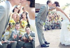 cute wedding party pose!