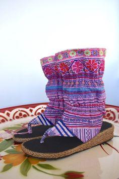 Hippie Gypsy Summer Boots Size 7 by Sea Gypsy
