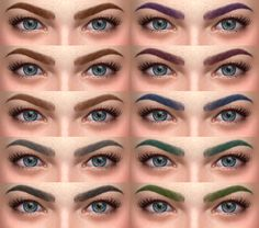 Eyebrows 05 • 20 colors; • female only; • custom thumbnail; Made with Sims 4 Studio. TOU Download: mediafire | dropbox
