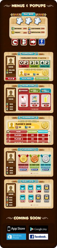 Lord of the Grill - Game Art & UI design by Taha Ahmad, via Behance