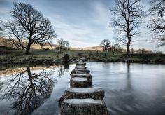 Stepping stones at Ambleside, Lake District