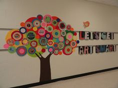 Polka Dot Tree for my classroom door!