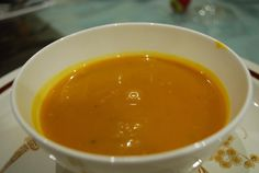 Lactose and Gluten Free Creamy Pumpkin Soup with a Twist from Eat Simply Now. This one is loaded with other veggies so once blended the kids won't know :)