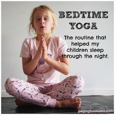 Bedtime Yoga for kids!