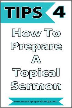 Sermon preparation worksheet pdf