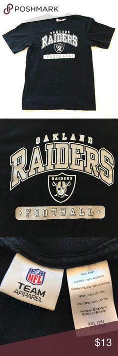 Oakland Raiders T-Shirt NFL Team Apparel Raiders shirt ~ Size XXL (18) ~ 100% Cotton ~ GUC {7} NFL Team Apparel Shirts & Tops Tees - Short Sleeve