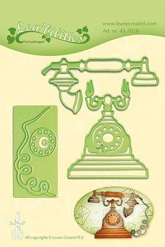Lea bilitie Präge- und Schneideschablone - Vintage Telefon (ca. Scrapbook Titles, Scrapbooking, Vintage Phones, Project 3, Vintage Cards, Telephone, Comics, Stamps, Crafts