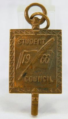 Student Council Lapel Pin or Pendant 1966 Large Made in USA 10153 by QueeniesCollectibles on Etsy