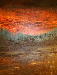 "For Sale: 'Red Forest' by Kindle Meek | $250 | 24""w x 30""h 