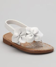 Take a look at this White Akai Sandal by Natural Steps on #zulily today!