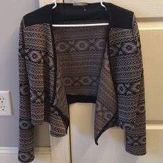 Aztec cardigan Tan and black Aztec cardigan. Excellent condition. Worn once. From local boutique Tops