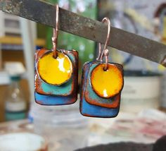 Enamel on copper by Nancie