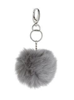 Fluffy Ball Keyring