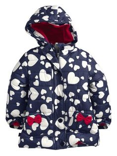 Ladybird Padded Heart Print Girls Jacket