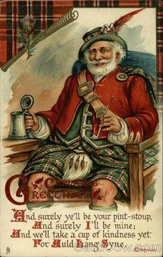 Christmas Love this Santa with the celt on, so cute.