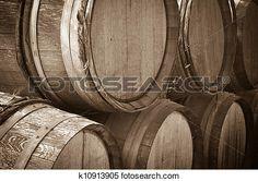vin, barils, dans, a, cave Voir Image Grand Format