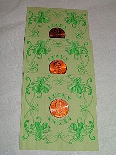This DIY printable could be your favorite lucky charm! Even though this is on a children's website, I thought it might be cute to use them as table numbers cards for your wedding guests for a St. Patrick's Day Wedding. They could double as a few wedding guest door prizes with something clever to place on the back of the penny.