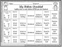 My Reading Block (Warning: Long Post!) Teaching With Love and Laughter: My Reading Block (Warning: Long Post!), GREAT explanation of first grade literacy centers! Like the checklist idea! Reading Stations, Literacy Stations, Reading Centers, Reading Workshop, Literacy Centers, Work Stations, Reading Center Ideas, Centers First Grade, 2nd Grade Ela