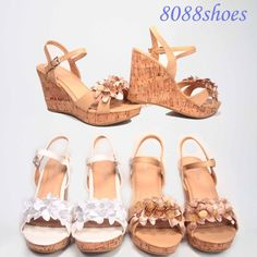 Bridal Sexy Floral Flower Accent Wedge Platform Sandal Shoes Size 5 - 10 NEW #TopModa #PlatformsWedges
