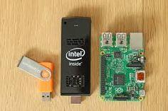 نتيجة بحث الصور عن what's the difference between intel stick and raspberry pi