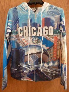 Chicago-Souvenir-Zip-Up-Drawstring-Hoodie-XL