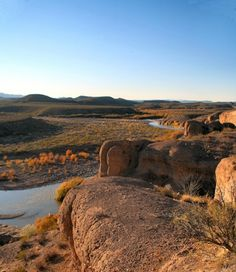 Big Bend Ranch State Park near Terlingua,Texas, gives us a view of the Rio Grande running through the haunting and desolate landscape of the Chihuahuan Desert.