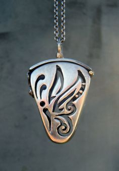 Butterfly Locket Sterling Silver Chakra Stones by SilviasCreations, $590.00