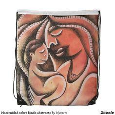 Maternidad sobre fondo abstracto.  Mother, mom. Producto disponible en tienda Zazzle. Accesorios, moda. Product available in Zazzle store. Fashion Accessories. Regalos, Gifts. #mochila #backpack #mother #mom #madre #maternity
