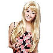 Capless Long Straight Blonde høj kvalitet syn... – DKK kr. 242