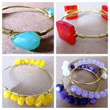 Bright Bangles!! Stack up bangles of popping colors that Roc your style all day!  Brought to you by www.rocmeout.com