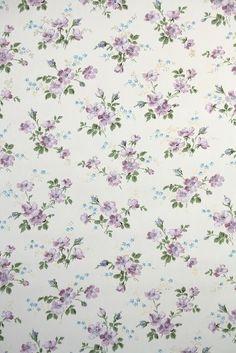Pretty purple floral vintage wallpaper wallpaper crafts, old wallpaper, print wallpaper, wallpaper Wallpaper Crafts, Old Wallpaper, Print Wallpaper, Pattern Wallpaper, Iphone Wallpaper, Vintage Wallpaper Patterns, Vintage Floral Wallpapers, Flower Backgrounds, Paper Background