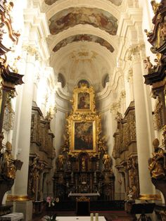 St Thomas, Prague --- One of the most beautiful churches I have ever seen!  Took  my breath away