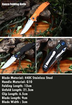 Ganzo FIREBIRD G7511 - GR Liner Lock Folding Knife  -  Army Green * ganzo knives, knife, knife hiking, knife travel